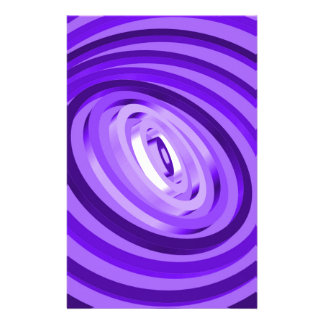 Purple Concentric Rings Customised Stationery