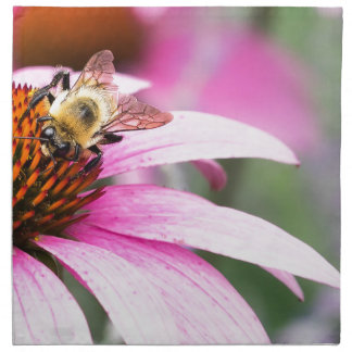 Purple Cone Flower with Bee Napkin