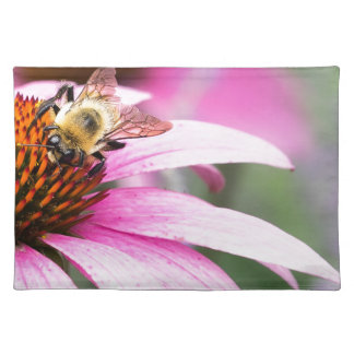 Purple Cone Flower with Bee Placemat