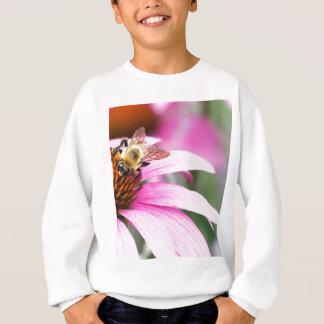 Purple Cone Flower with Bee Sweatshirt