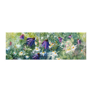 Purple cone flowers gallery wrapped canvas