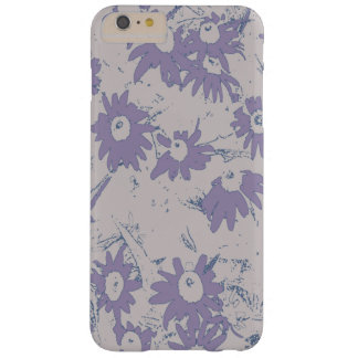 Purple Cone Flowers with Grey Background Barely There iPhone 6 Plus Case