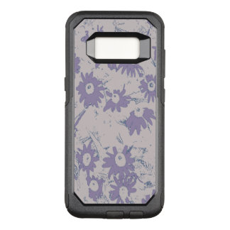 Purple Cone Flowers with Grey Background OtterBox Commuter Samsung Galaxy S8 Case