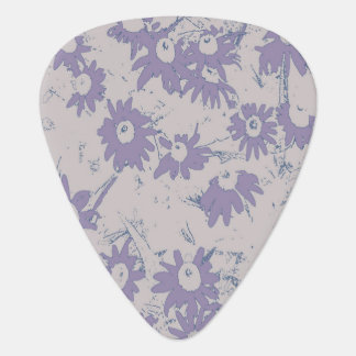 Purple Cone Flowers with Grey Background Plectrum