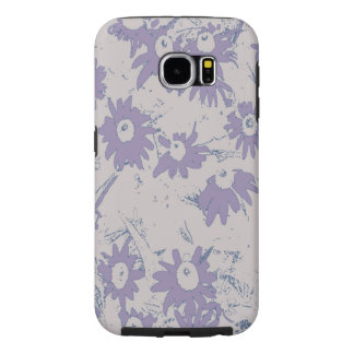 Purple Cone Flowers with Grey Background Samsung Galaxy S6 Cases