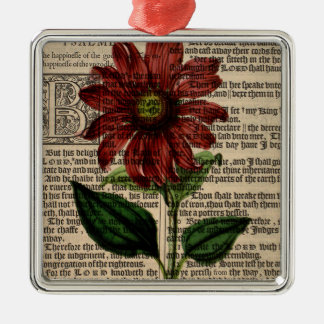 Purple Coneflower Flower Metal Ornament
