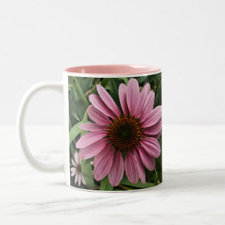 Purple Coneflower Two-Tone Coffee Mug