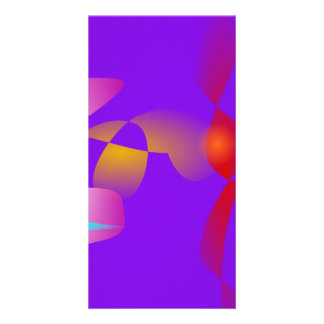 Purple Contrast Abstract Art Photo Card Template
