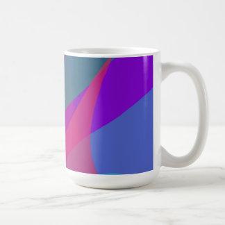 Purple contrast basic white mug