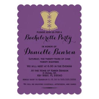 Purple Corset Bachelorette Invitation