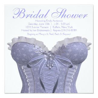 Purple Corset Lavender Bridal Shower Custom Announcements