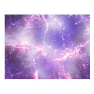 Purple Cosmic Lightning Art Postcard