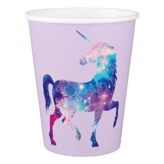 Purple Cosmic Unicorn Paper Cup