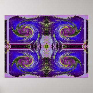 purple cosmos swirl poster