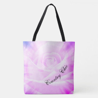 Purple Country chic design Tote Bag