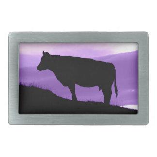 Purple Cow Rectangular Belt Buckles