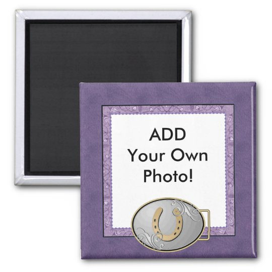 Purple Cowgirl Bandanna Photo Magnet