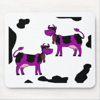 Purple Cows Mouse Pad