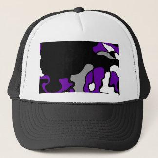 Purple creativity trucker hat