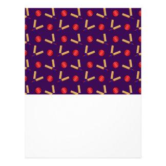 purple cricket pattern 21.5 cm x 28 cm flyer