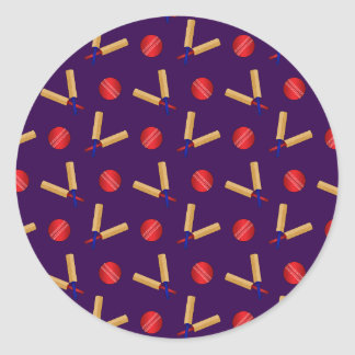 purple cricket pattern stickers