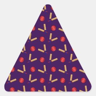 purple cricket pattern triangle sticker