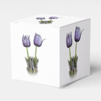 Purple Crocus Flowers Favour Box