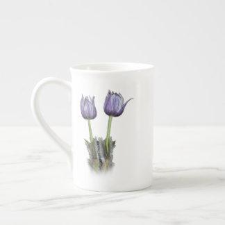 Purple Crocus Flowers Tea Cup