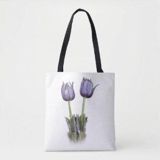 Purple Crocus Flowers Tote Bag