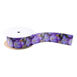 Purple Crocus For FMS Awareness Satin Ribbon