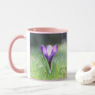 Purple Crocus in spring 03.3 Mug