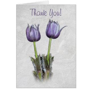 Purple Crocus Thank You Card