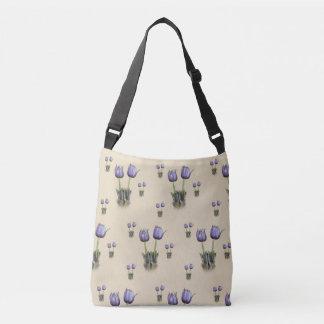 Purple Crocus Wildflowers Crossbody Bag