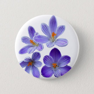 Purple crocuses 02 6 cm round badge