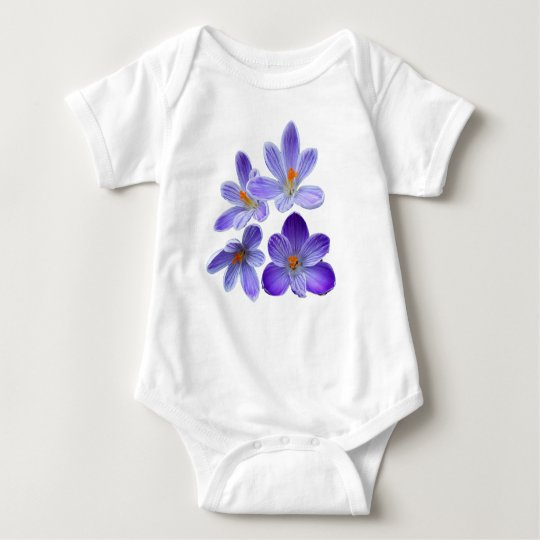 Purple crocuses 02 baby bodysuit