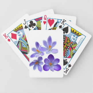 Purple crocuses 02 bicycle playing cards