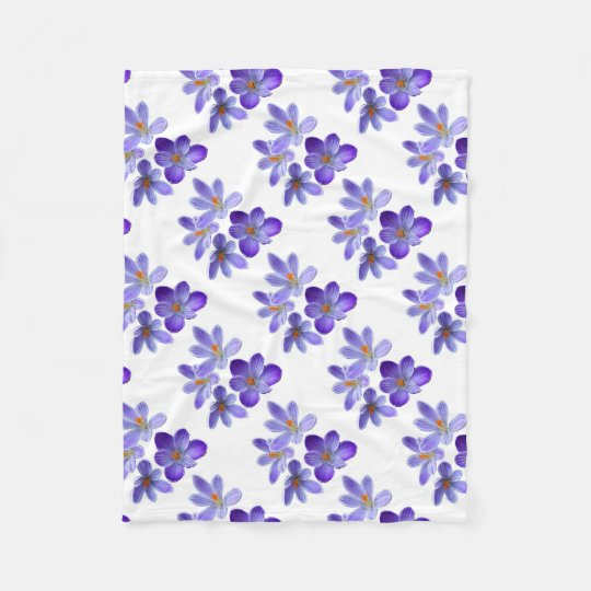 Purple crocuses 02 fleece blanket