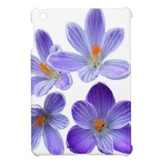 Purple crocuses 02 iPad mini case