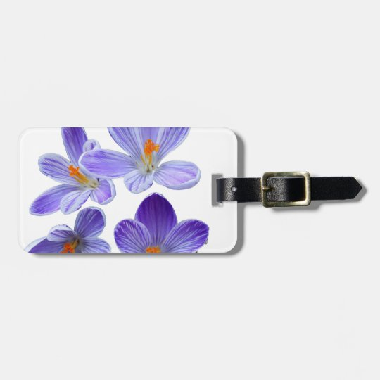 Purple crocuses 02 luggage tag