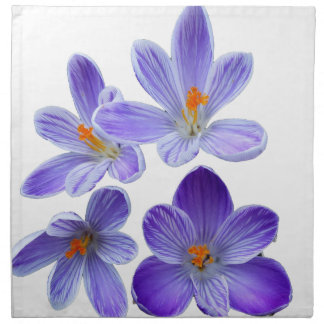 Purple crocuses 02 napkin