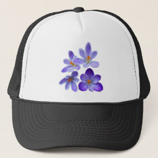 Purple crocuses 02 trucker hat
