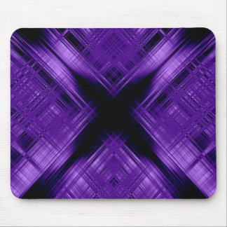 Purple cross and grid mouse pad