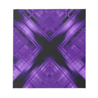 Purple cross and grid notepad