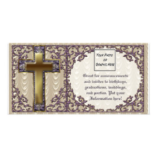 Purple Cross Photo Card