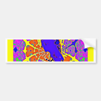 Purple Crow Sitting on Fence Post Abstract Gifts Bumper Stickers