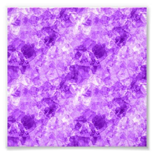 Purple Crumpled Texture Photographic Print
