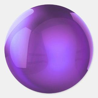 Purple Crystal Ball Classic Round Sticker