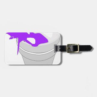 purple cup luggage tag