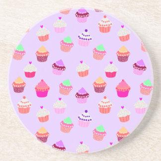 Purple Cupcake Confetti Coaster