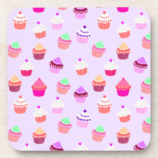 Purple Cupcake Confetti Coaster